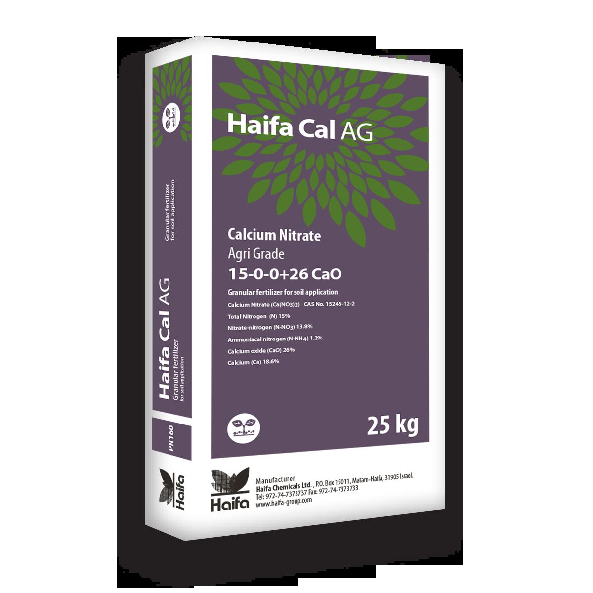 以色列海法 Cal prime系列大量元素水溶肥15-0-0+26Cao 25公斤