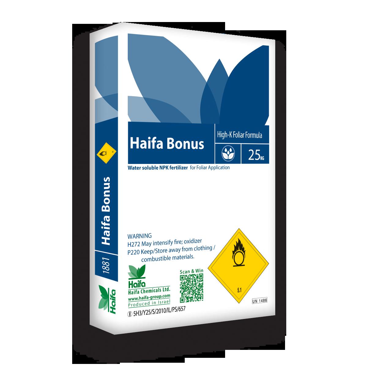 以色列海法 Bonus系列大量元素水溶肥 25公斤