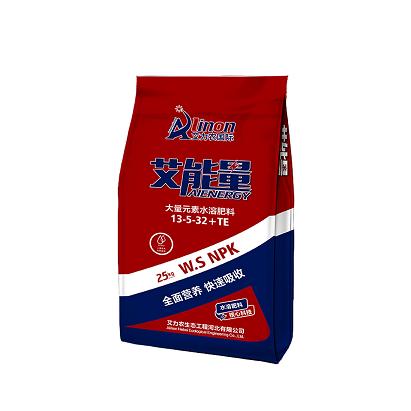 艾能量水溶肥 13-5-32+TE 25公斤/袋  高钾膨果型